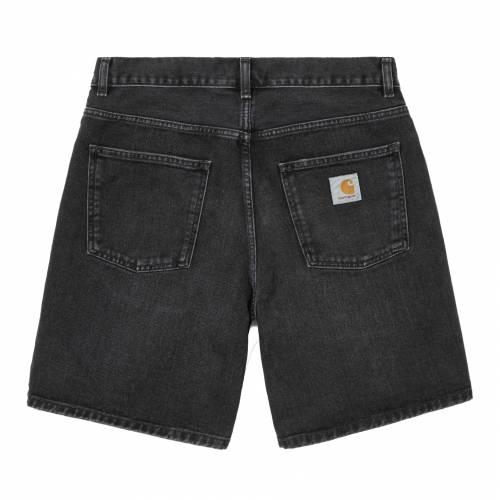 Carhartt Newel Short - Black (Mid Worn Wash)