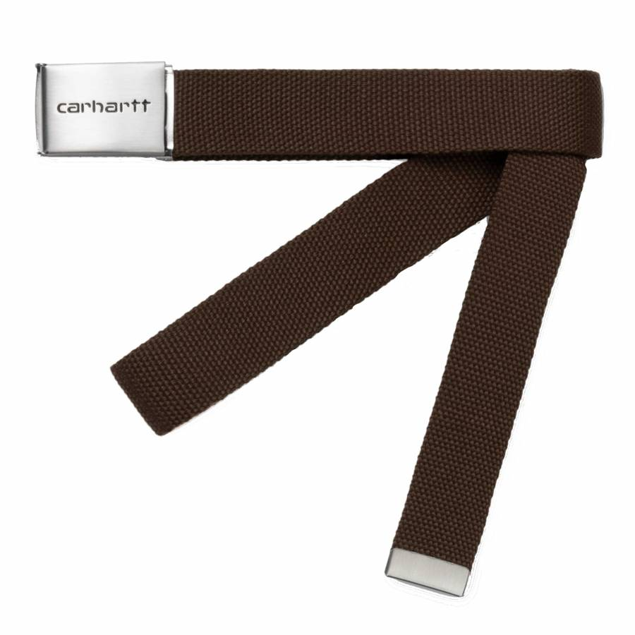 Carhartt Clip Belt Chrome - Tobacco