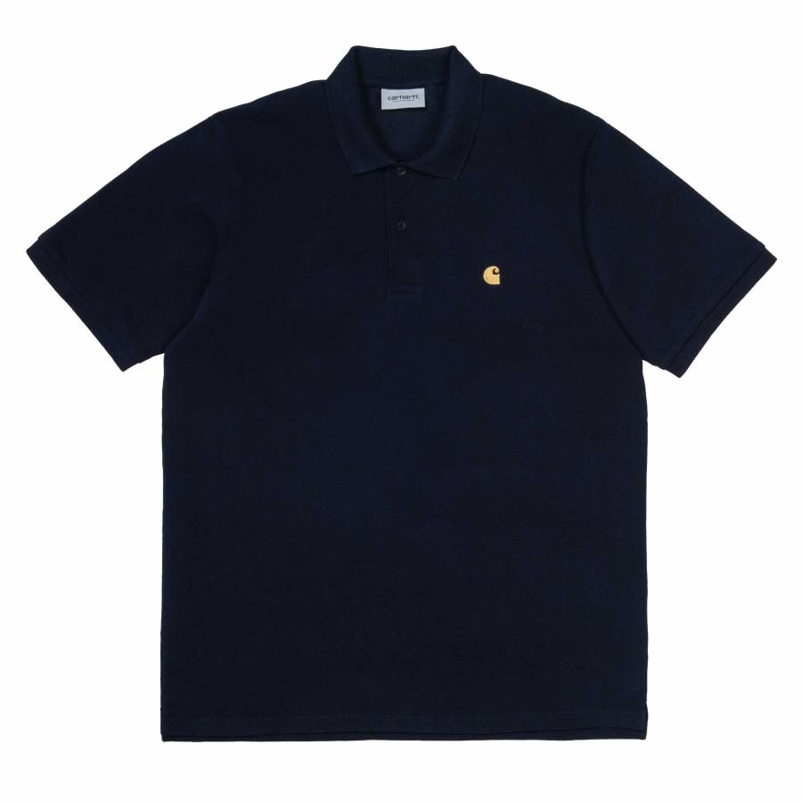 Carhartt Chase Pique Polo - Dark Navy / Gold