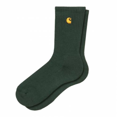 Carhartt Chase Socks - Bottle Green / Gold