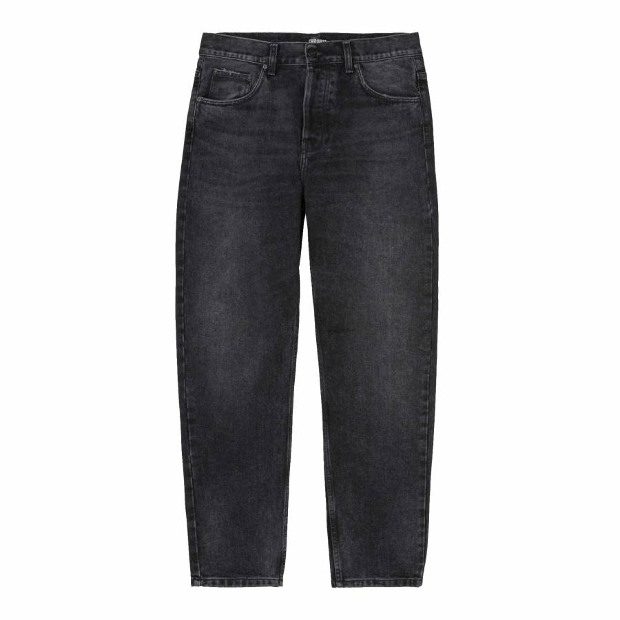 Carhartt Newel Pant - Black (Mid Worn Wash)