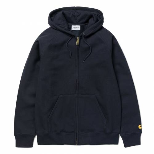 Carhartt Hooded Chase Jacket - Dark Navy / Gold