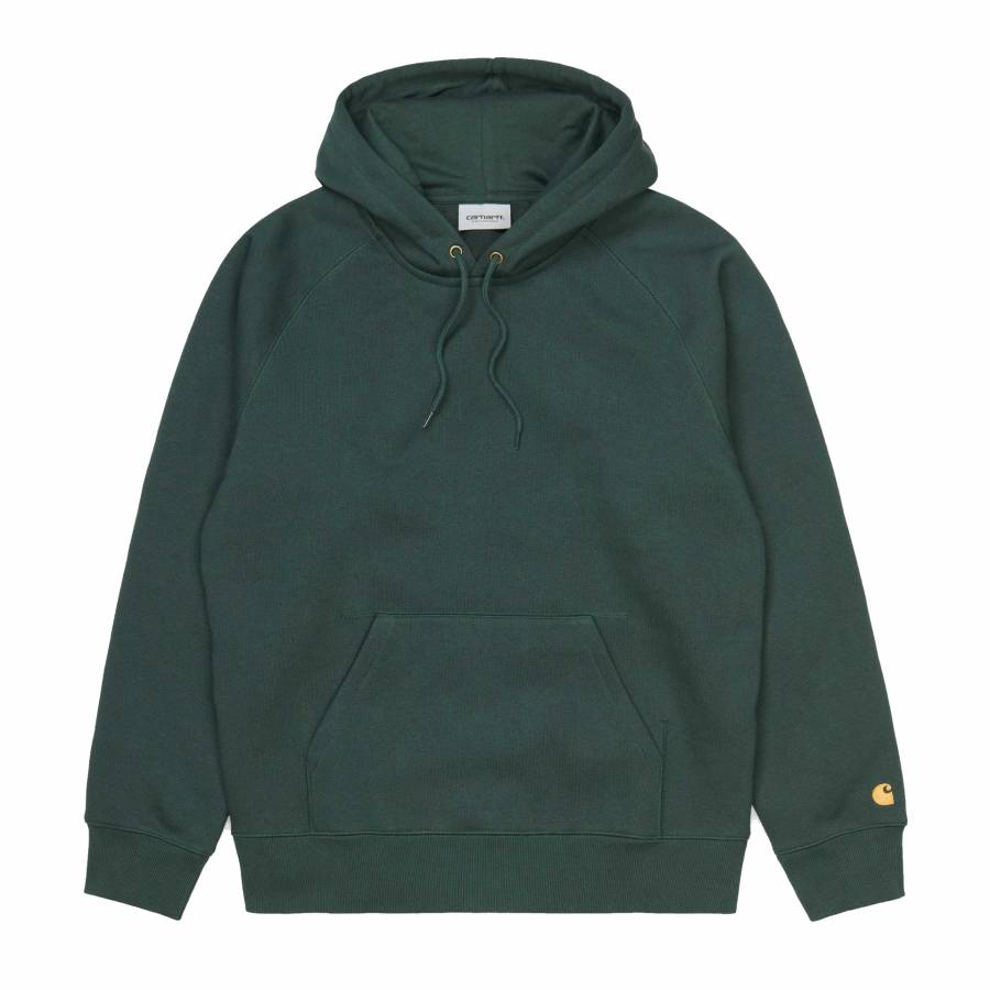 Carhartt Hooded Chase Jacket - Dark Teal / Gold