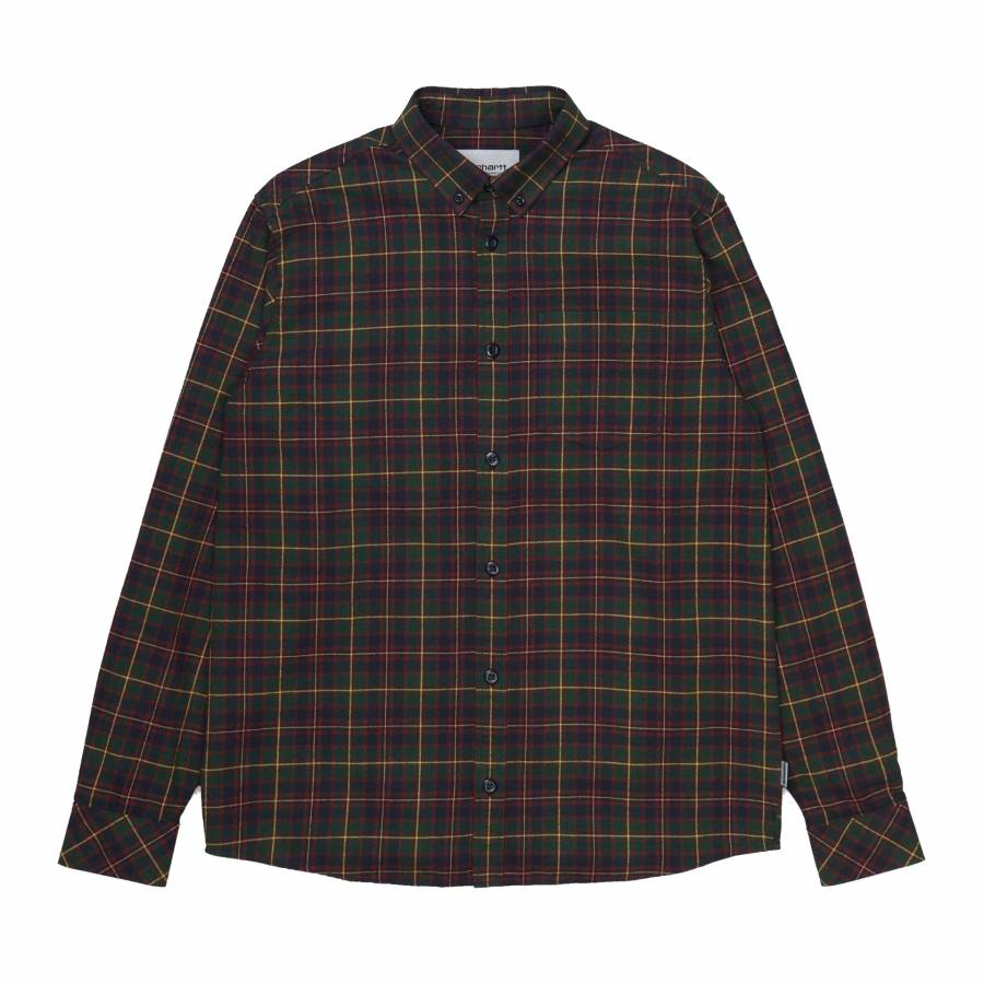 Carhartt L/S Huffman Shirt - Bottle Green