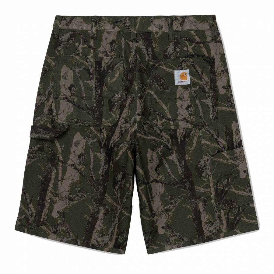 Carhartt WIP Single Knee Short - Camo Tree / Green