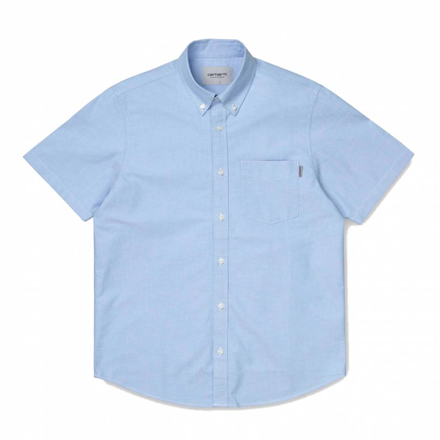 Carhartt WIP S/S Button Down Pocket Shirt - Bleach