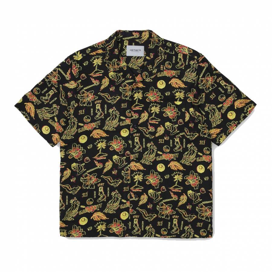 Carhartt WIP S/S Paradise Shirt - Paradise Print /...