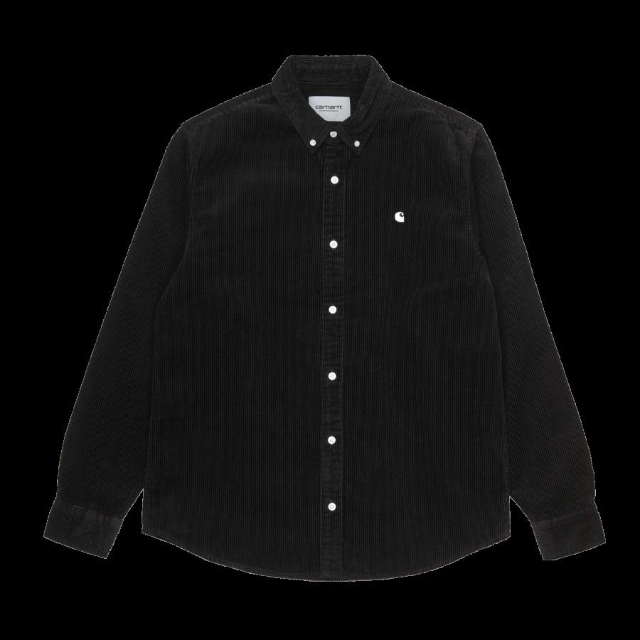 Carhartt L/S Madison Cord Shirt - Black / Wax