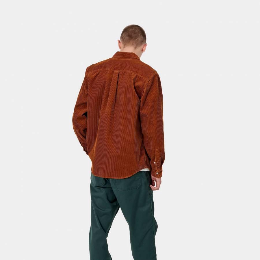 Carhartt L/S Madison Cord Shirt - Brandy / Wax