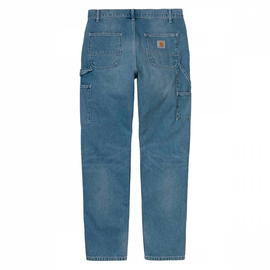 Carhartt WIP Ruck Single Knee Pant- Blue Worn Blea...