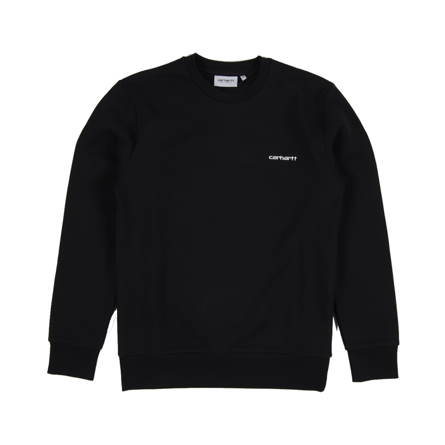 Carhartt WIP Script Embroidery Sweat - Black White