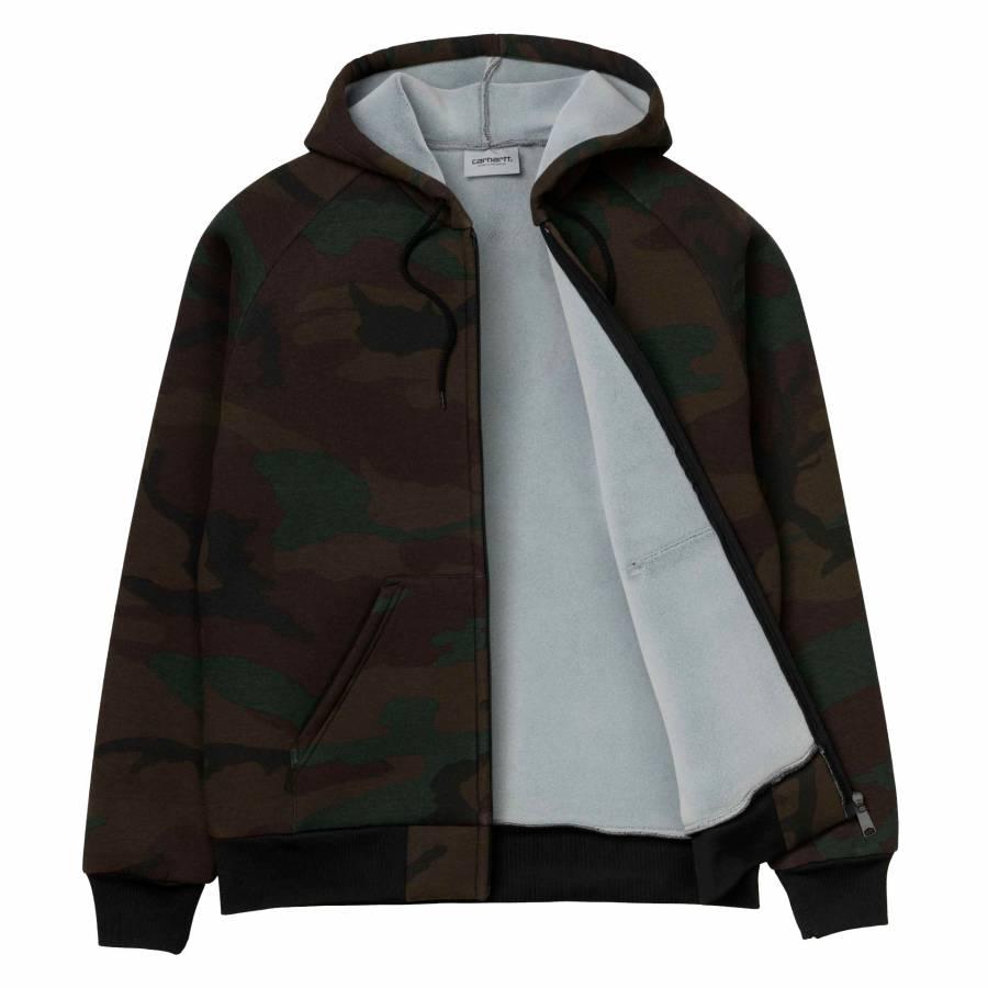 Carhartt Lux Hooded Jacket- Camo Evergreen/Grey