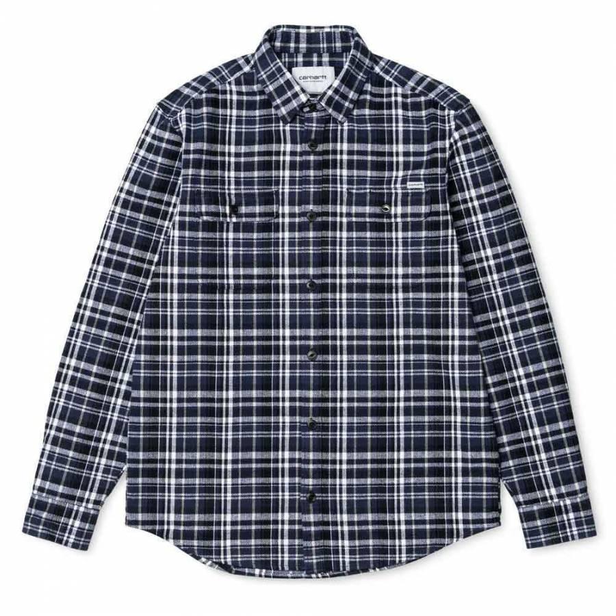 Carhartt WIP- LS Stinson Shirt - Blue