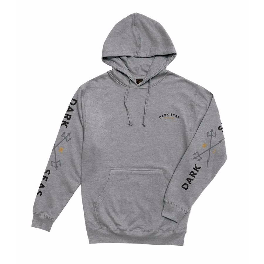 Dark Seas Headmaster Pullover Hood - Heather Grey