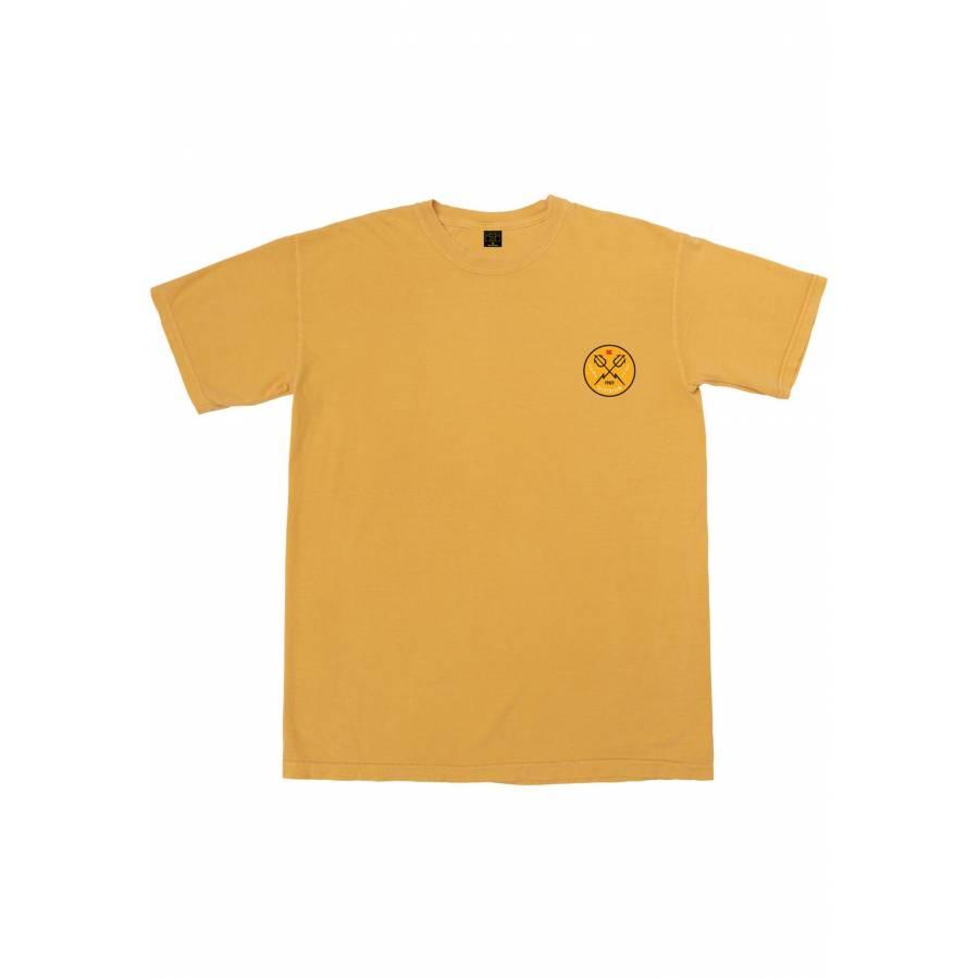 Dark Seas Hand Signals Pigment T-shirt - Mustard