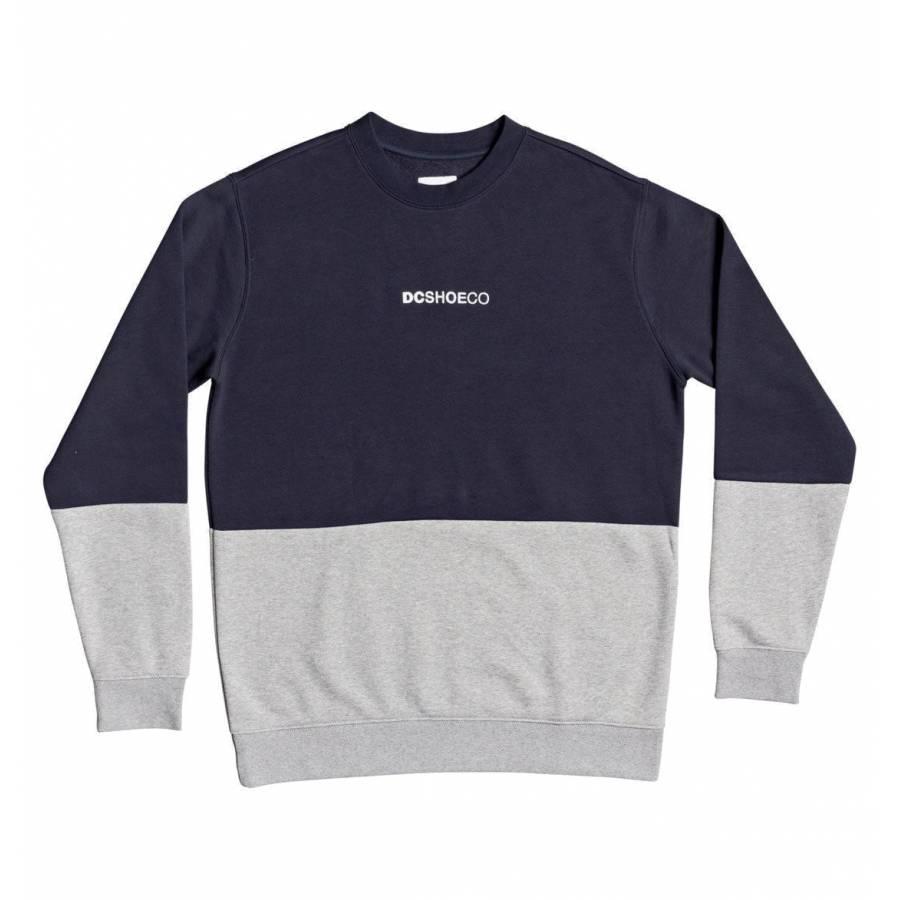 DC Shoes Mans Downming Sweatshirt - Black Iris
