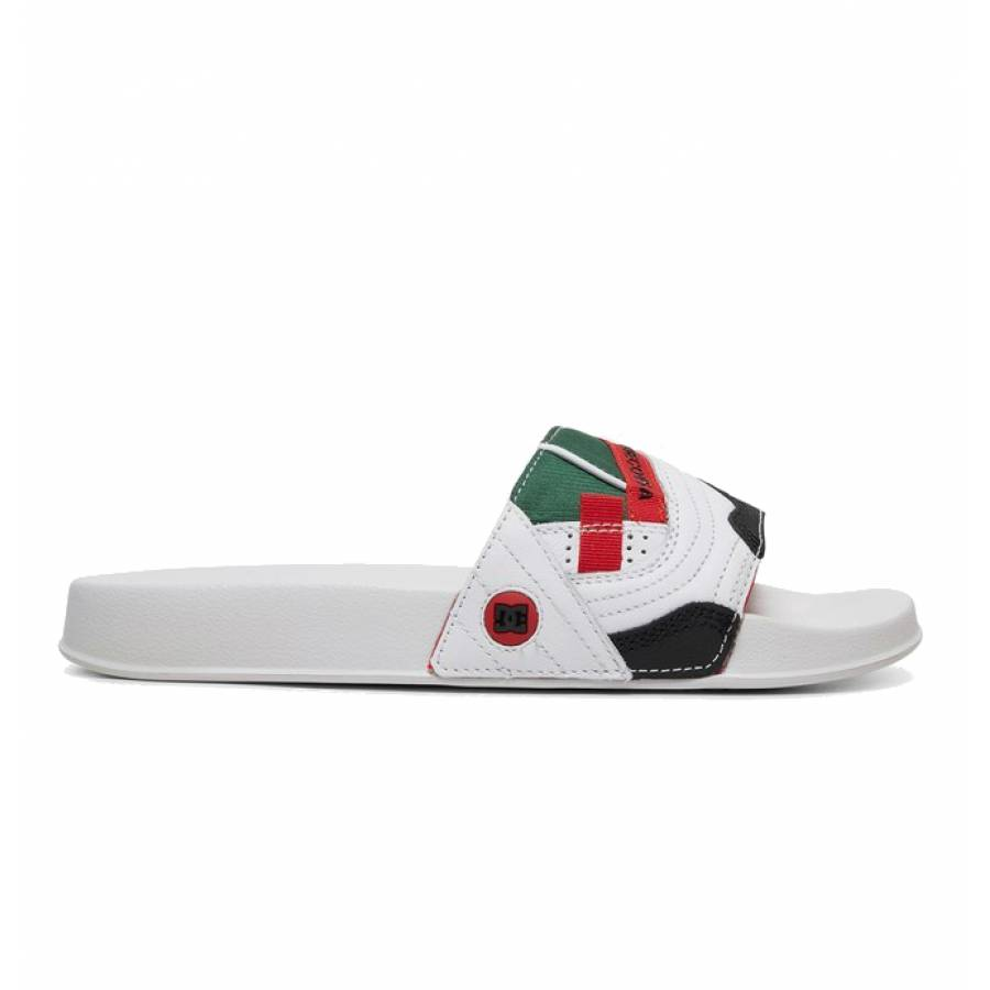 DC Shoes Williams Slide Slippers - White / Red