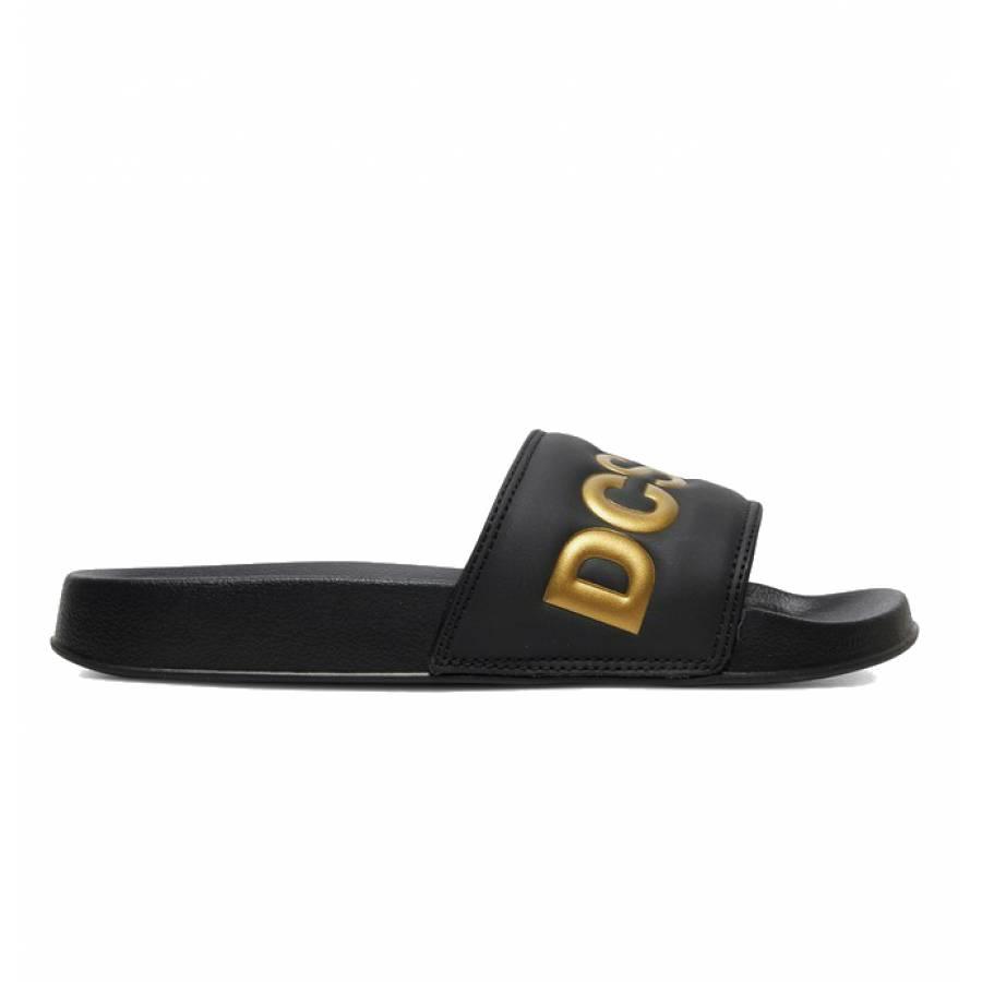DC Shoes Slide SE Slippers - Black / Gold