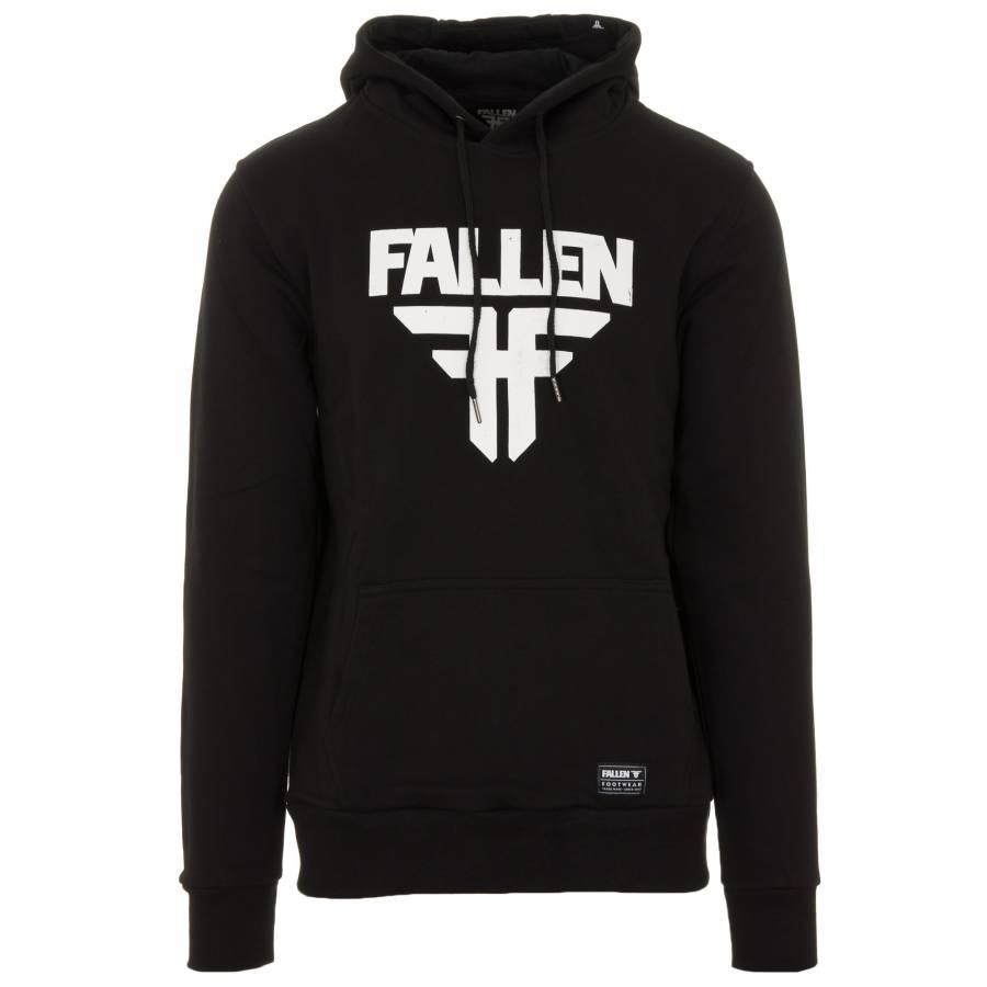 Fallen M Insignia Hoodie Sweater - Black