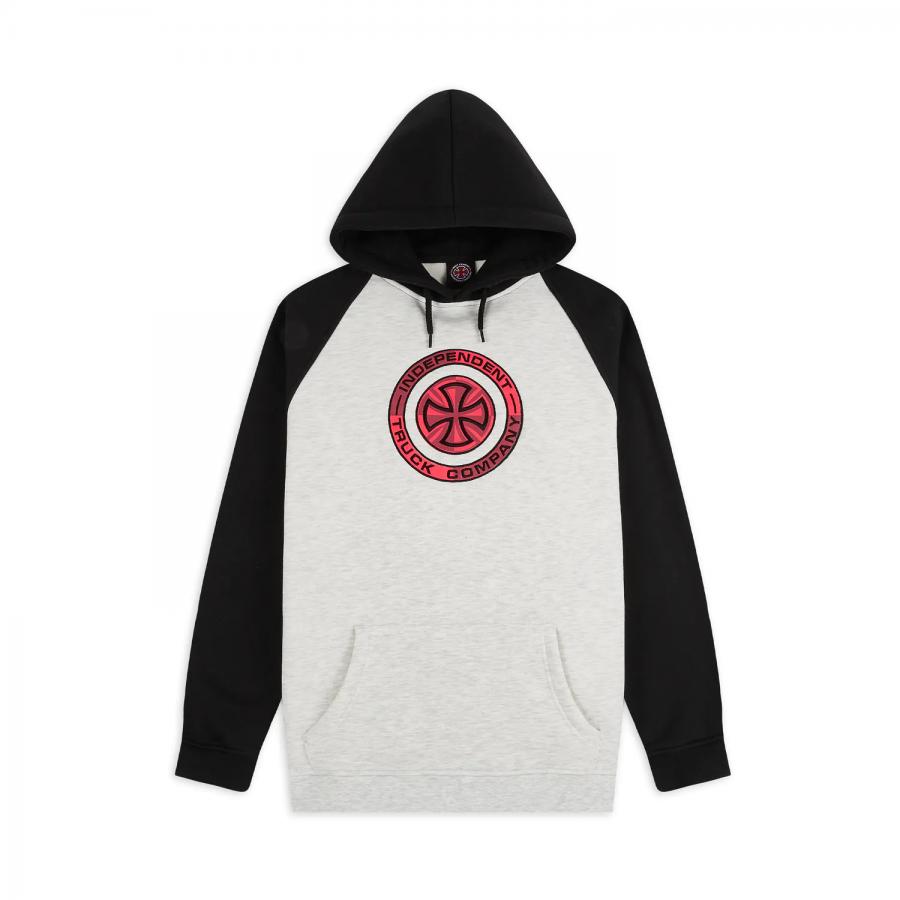Independent Target Raglan Hoodie - Grey / Black