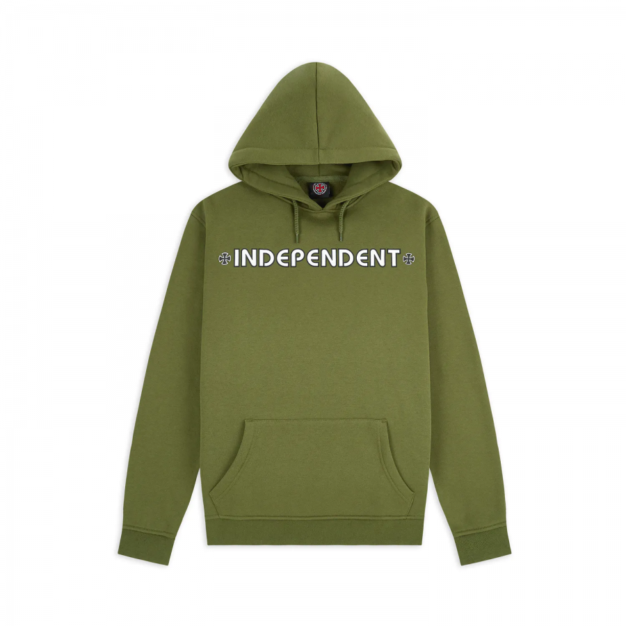 Independent Bar Cross Hoodie - Olive