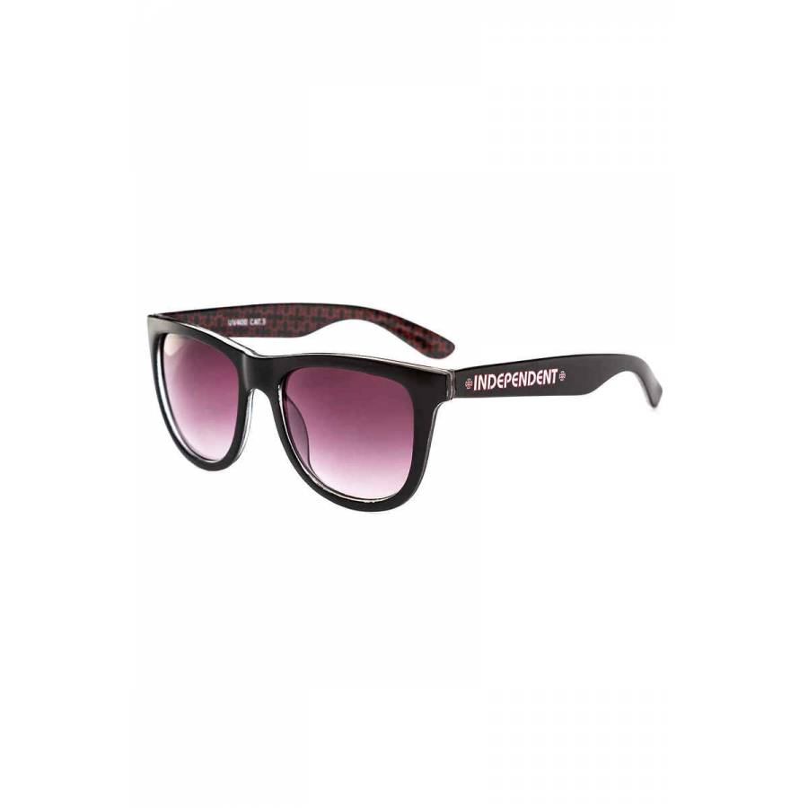 Independent Repeat Cross Sunglasses - Black Red