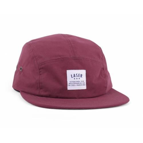 Laser Barcelona Borne Burgundy Packable 5 Panel Hat