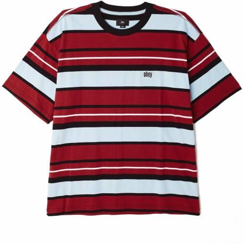 Obey Roll Call T-shirt - Brick Multi