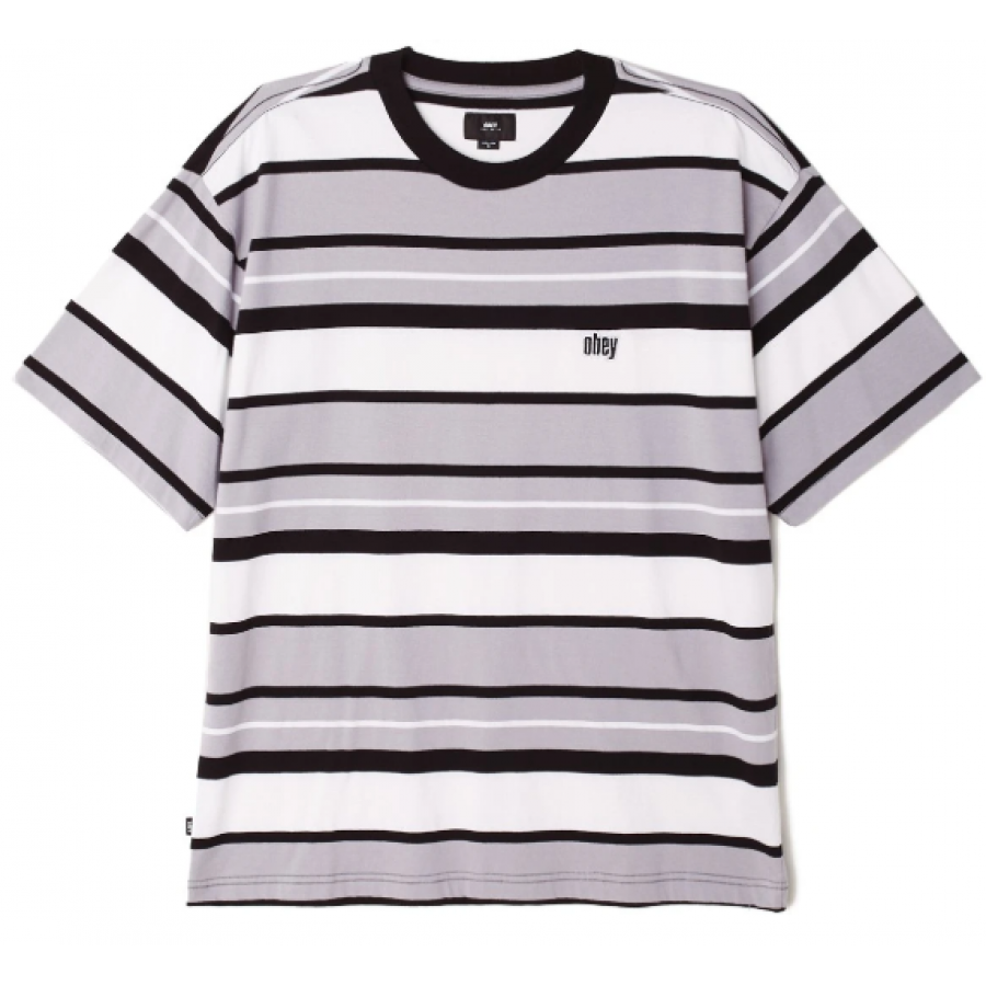 Obey Roll Call T-shirt - Grey Multi