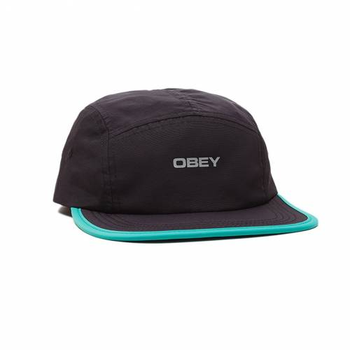 Obey Upperground 5 Panel Hat - Black Multi