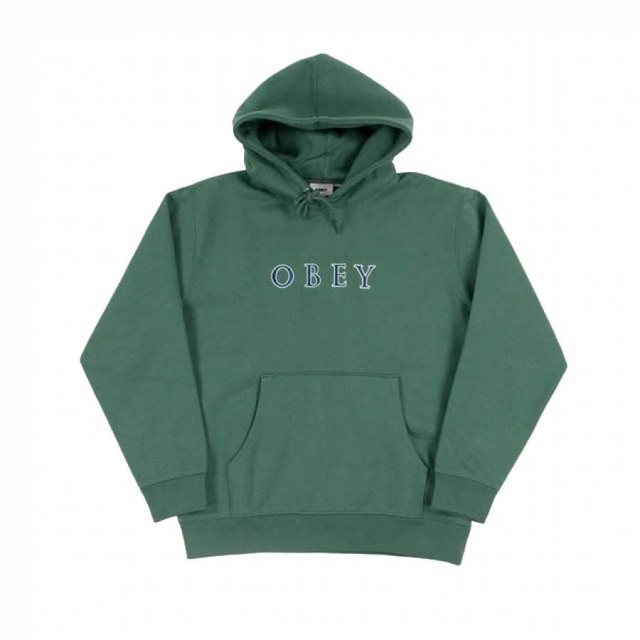 Obey Curtis Hood Sweat - Mallard Green