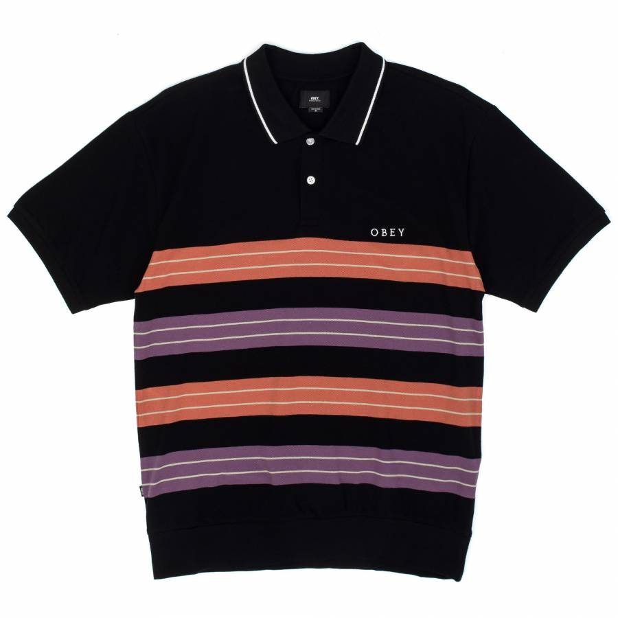 Obey Casa Polo - Black Multi
