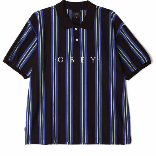 Obey Ashby Polo - Black Multi