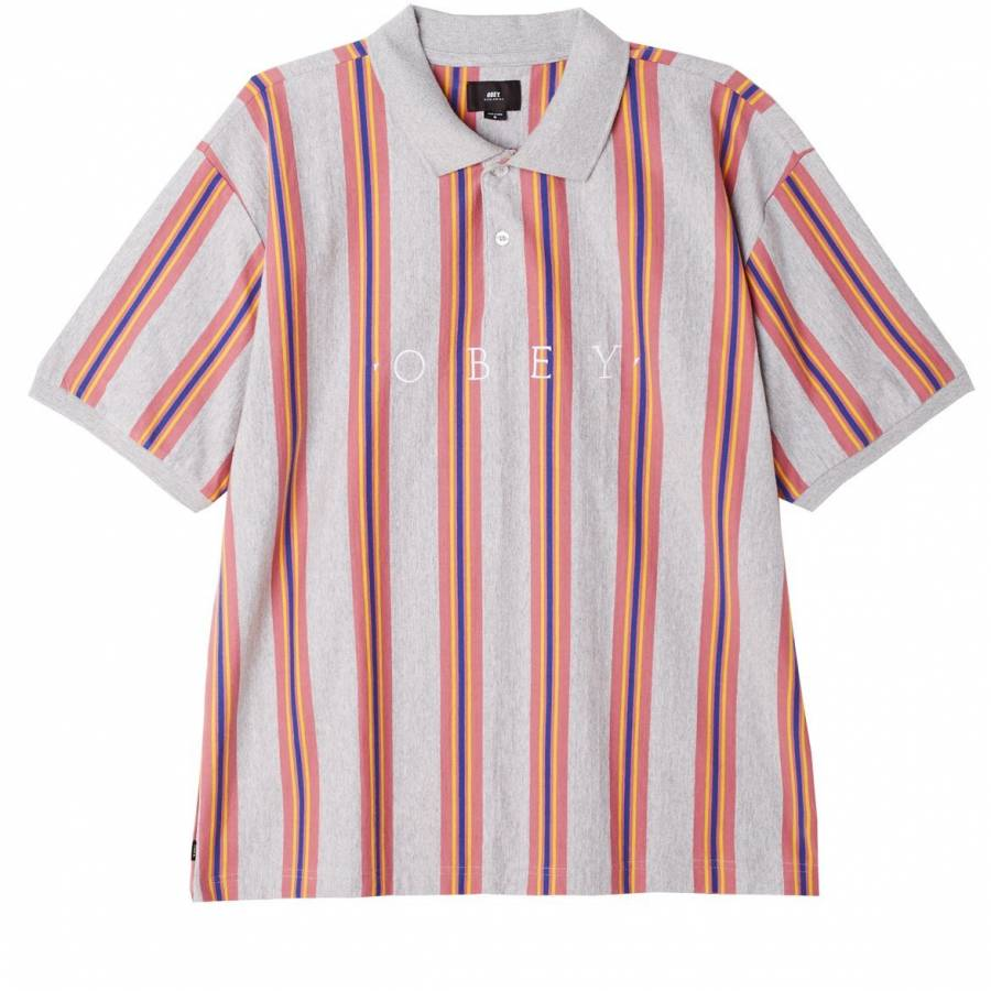 Obey Ashby Polo - Heather Ash Multi