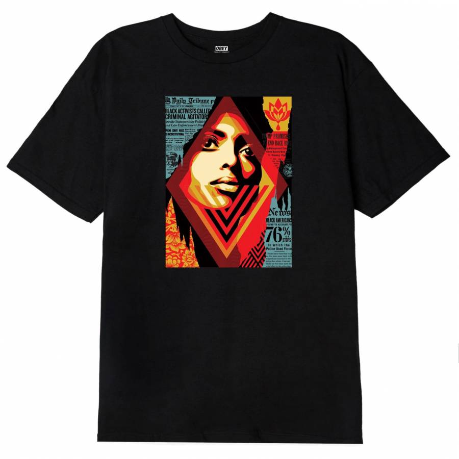 Obey Bias by Numbers Classic T-Shirt - Black