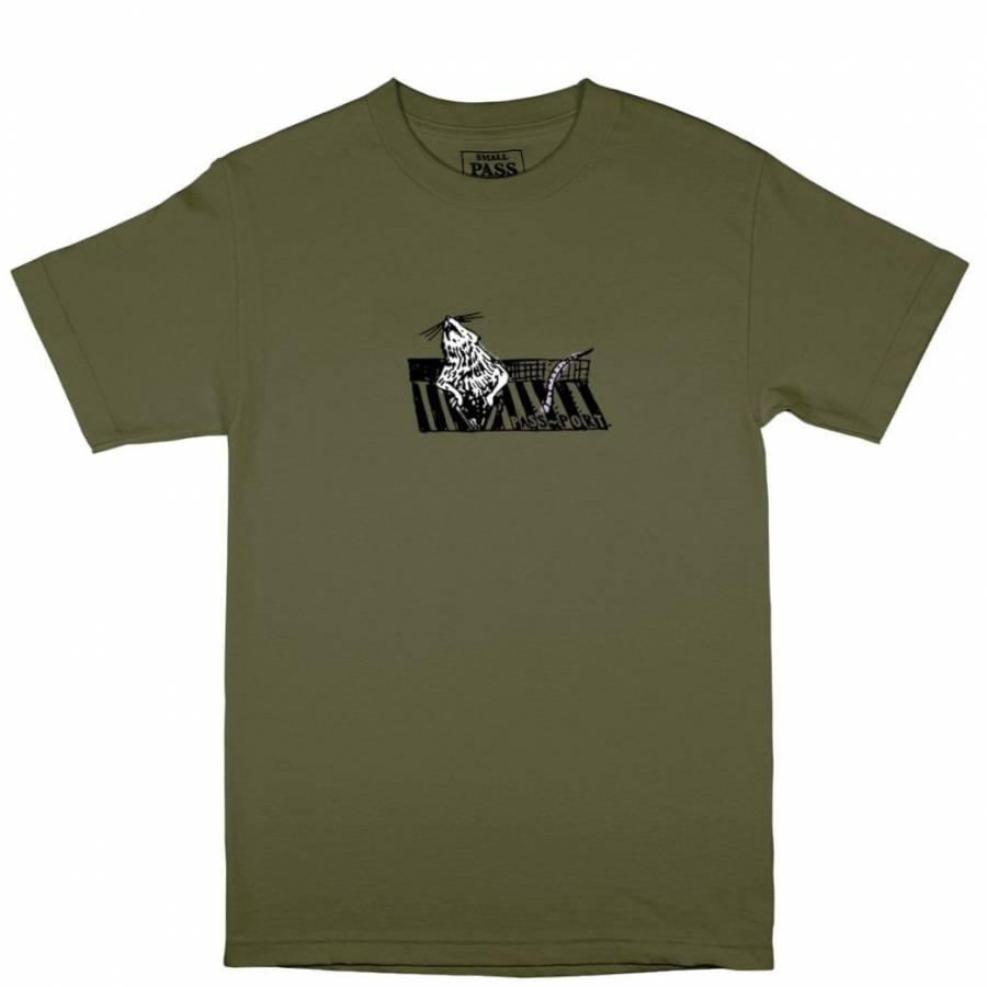 """Pass Port """"Ratto"""" Tee - Military Green"""