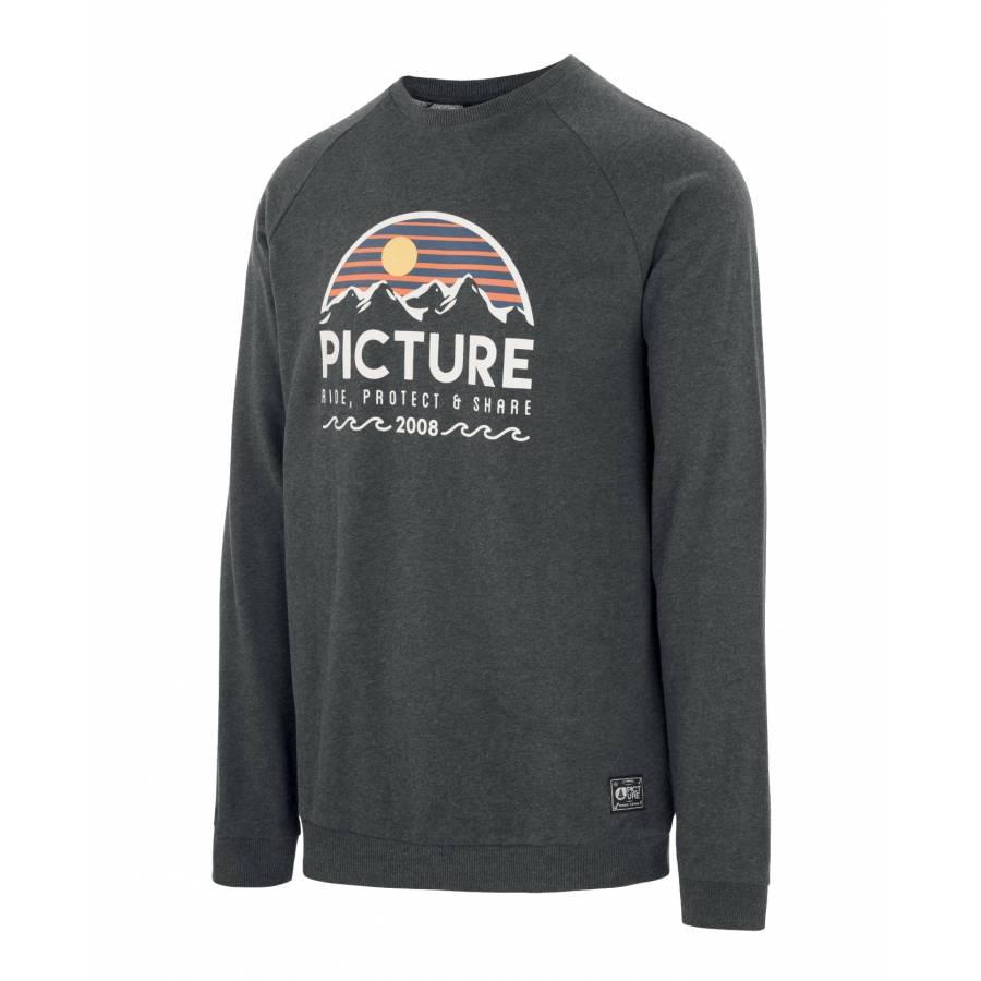 Picture Organic Bellevue Crew Sweatshirt - Dark Gr...