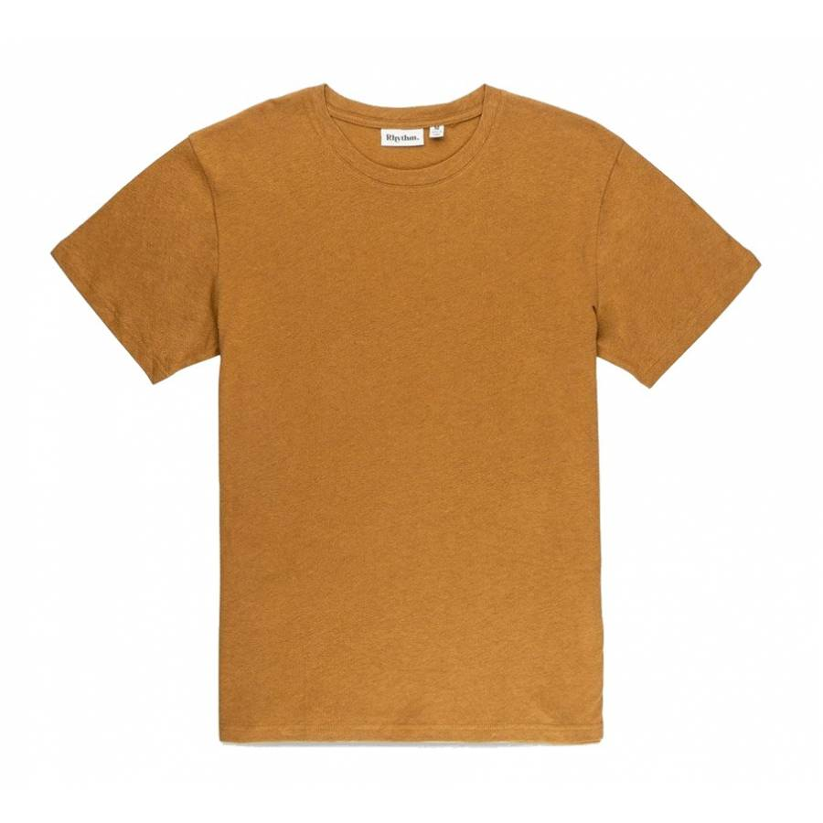 Rhythm Premium Linen T-Shirt - Almond