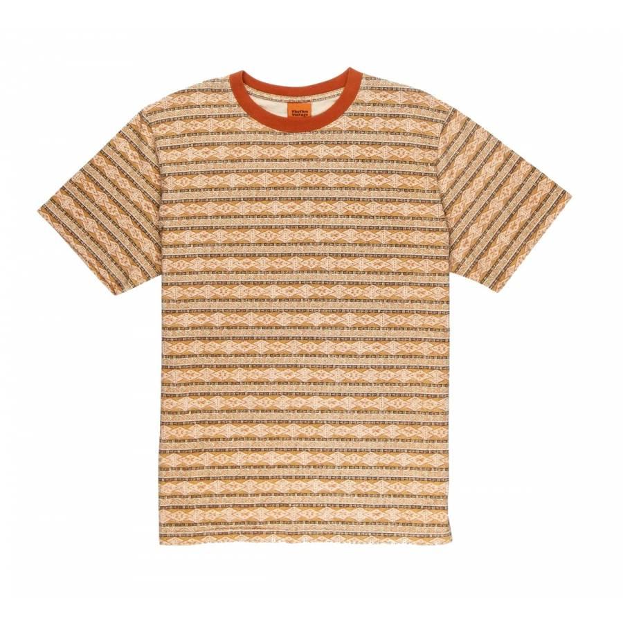 Rhythm Tribe Stripe T-Shirt - Tobacco