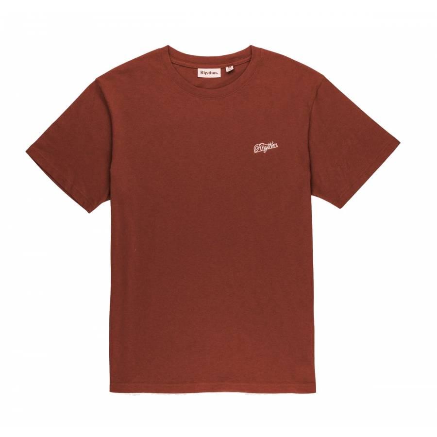 Rhythm Script T-Shirt - Raisin
