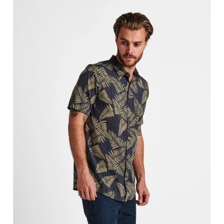 Roark Bless Up Button Up Shirt - Light Army
