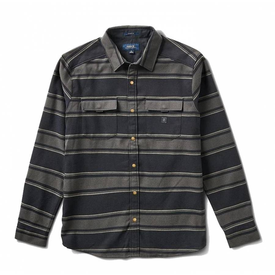 Roark Diablo Long Sleeve Flannel Shirt - Black