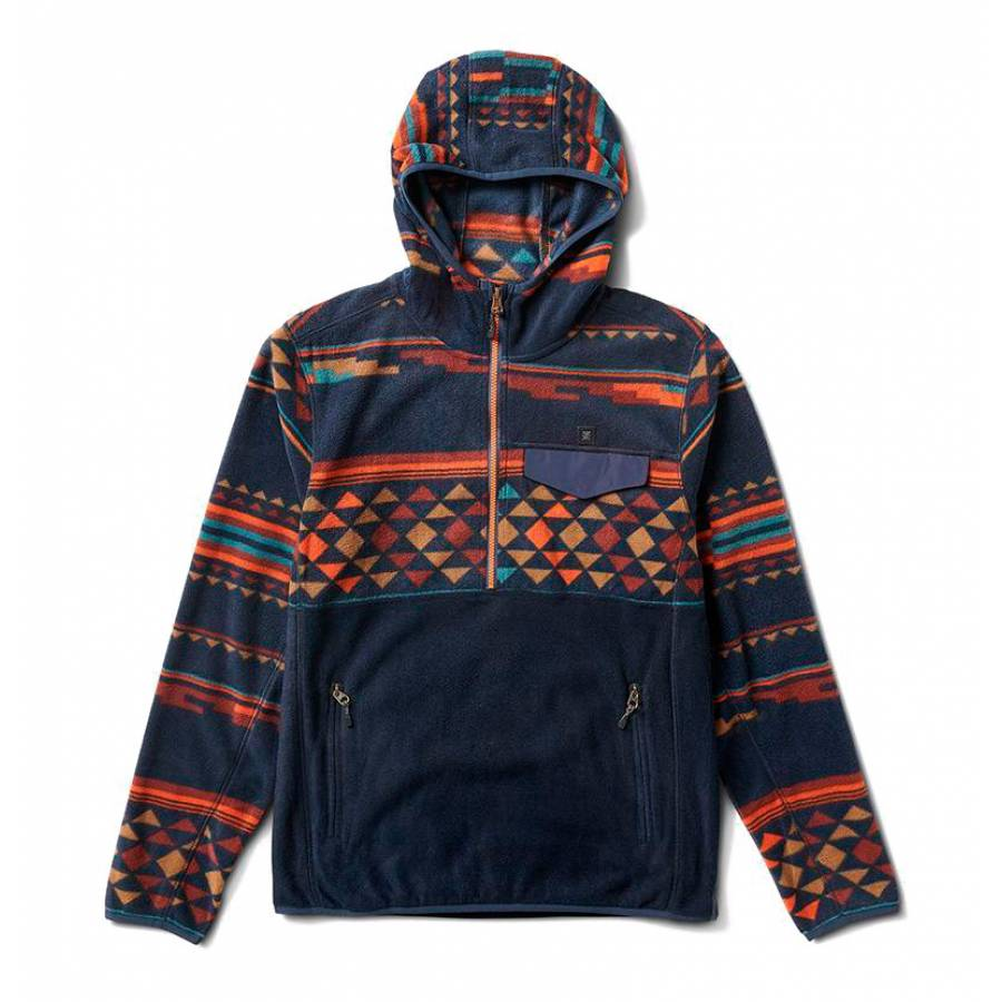 Roark Fox Islands Polar Hoodie - Navy