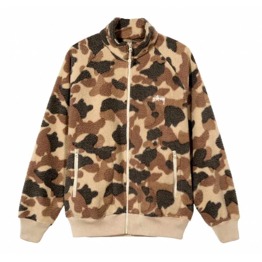 Stussy Camo Fleece Jacket - Camo
