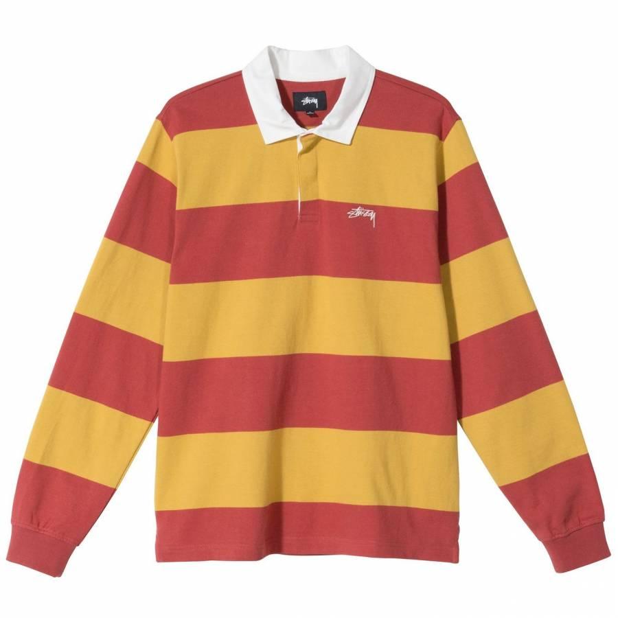 Stussy Classic Stripe Rugby Sweatshirt - Mustard