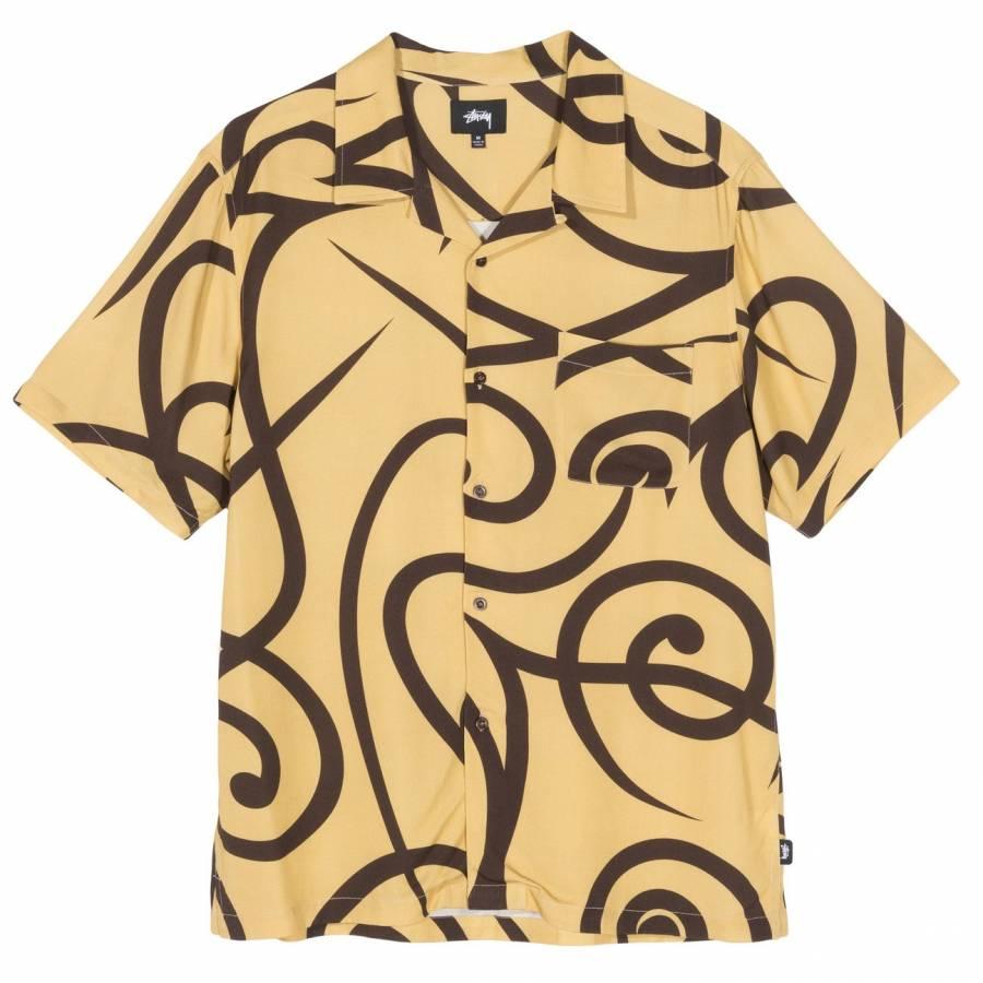 Stussy Tribal Pattern Shirt - Mustard