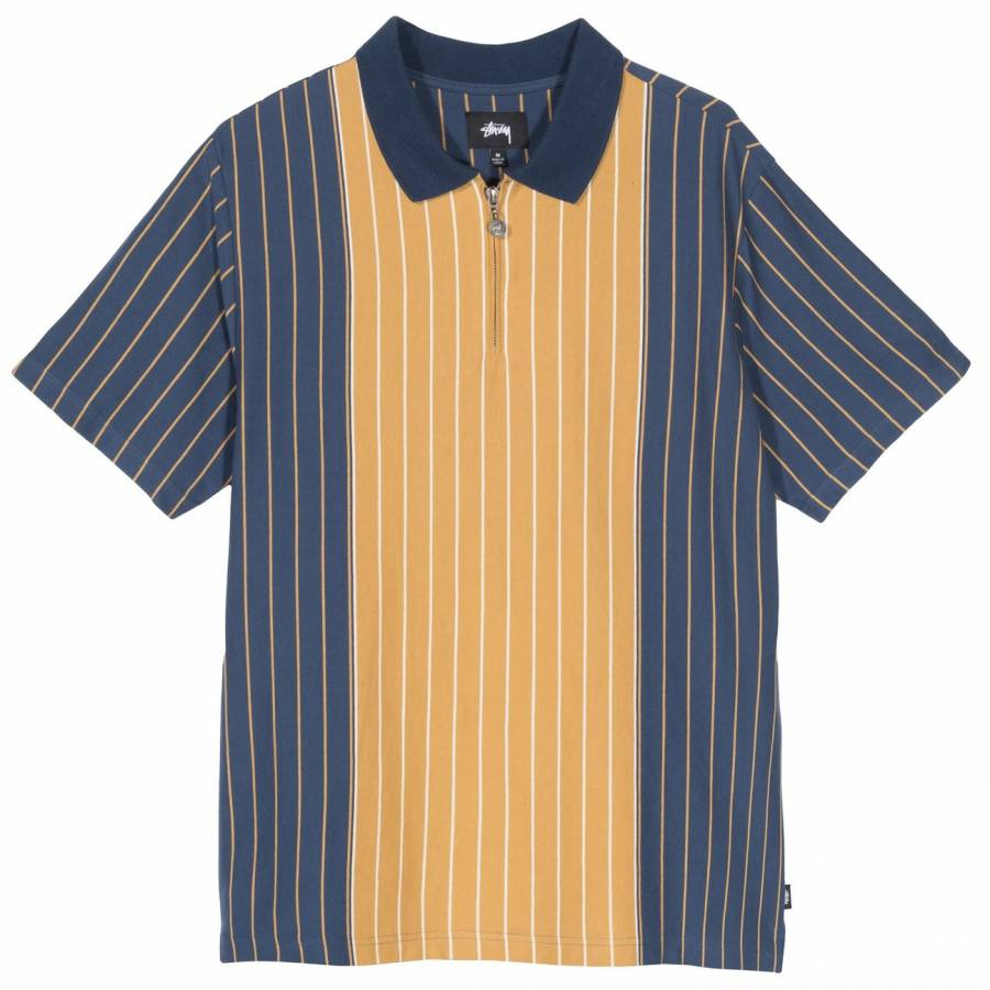 Stussy Tivoli Stripe Polo - Navy