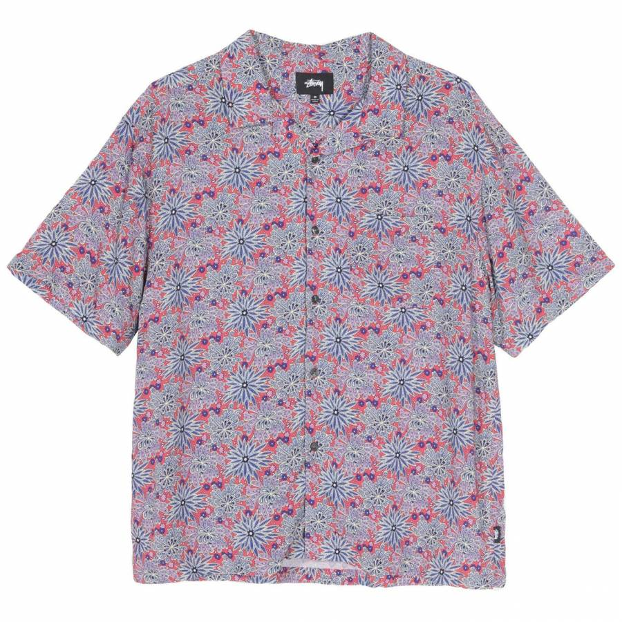Stussy Floral Print Shirt - Red