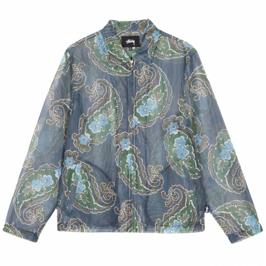 Stussy Mesh Zip Jacket - Charcoal