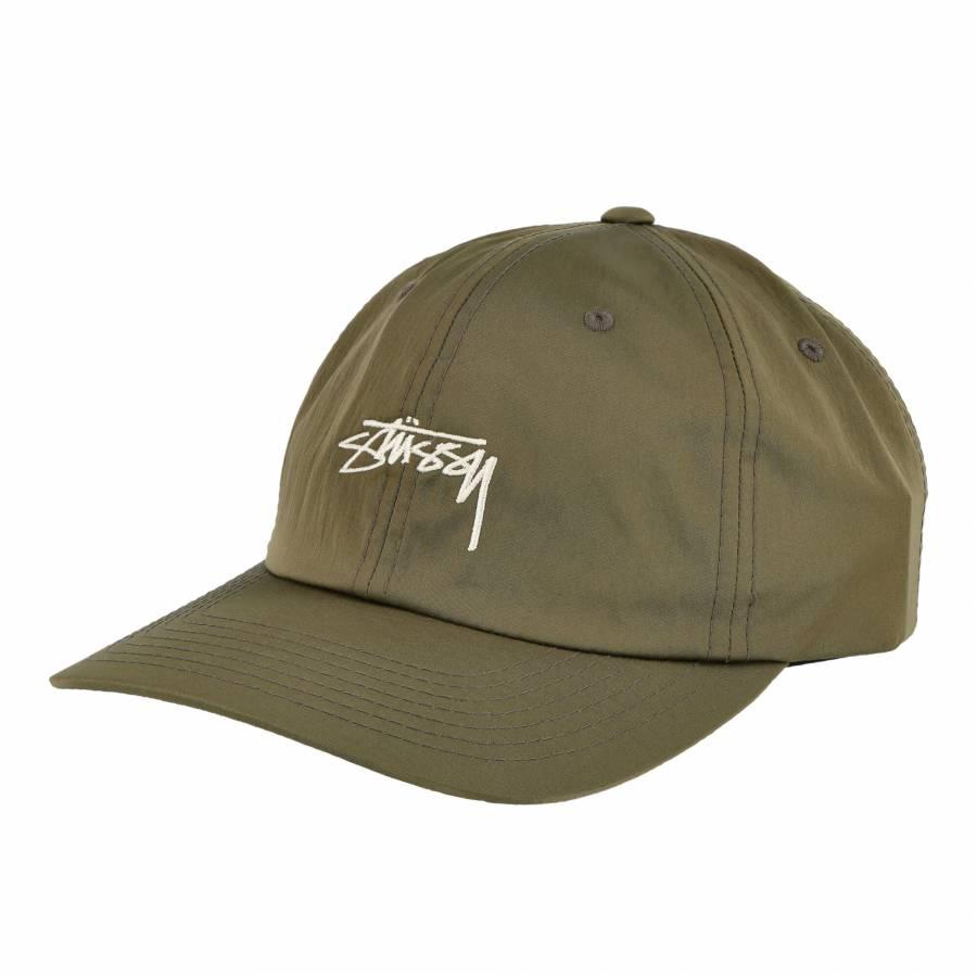 Stussy Lined Nylon Low Pro Cap - Green